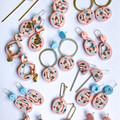 CALI Collection Statement Drop Dangles w/ Brass Charm Tassels (12/17)