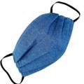 REVERSIBLE Triple Layer Face Mask - 100% cotton fabric - Denim