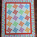 Bright Baby Quilt Pattern - Windmill Quilt Pattern - PDF File (Instant Download)