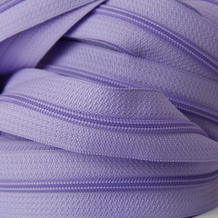 Genuine YKK  Continuous Nylon/Polyester #4.5 Zip colour 553 Lavender