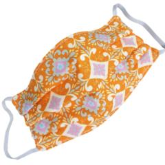 REVERSIBLE Triple Layer Face Mask - 100% cotton fabric - Sweet Orange