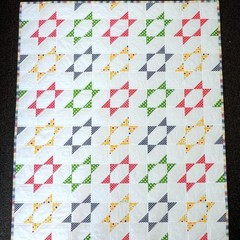 Baby Quilt - Stretched Star Baby Quilt - PDF File (Instant Download)