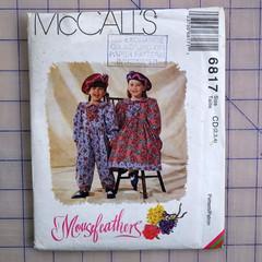 McCall's 6817, girls jumpsuit and dress pattern, sizes 2 - 4, UNCUT