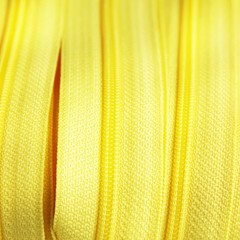 Genuine YKK  Continuous Nylon/Polyester #4.5 Zip colour 504 Bright Yellow