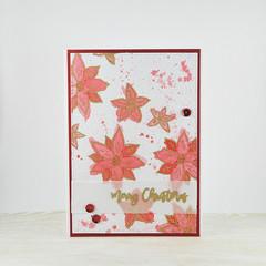 Messy Poinsettias, Watercolour Flowers, Christmas Card