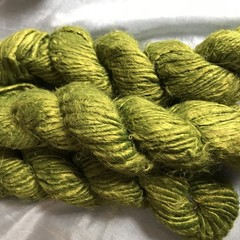 Soft olive green Indian banana fibre yarn