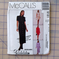 McCall's Pattern 9181, top skirt and dress pattern, sizes 12 to 16, UNCUT
