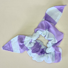 Purple Striped Scrunchy with Bow