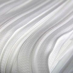 Genuine YKK  Continuous Nylon/Polyester #4.5 Zip colour 501 White