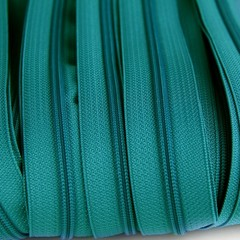 Genuine YKK  Continuous Nylon/Polyester #4.5 Zip colour 549 Blue Emerald