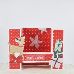 Reindeer and Gifts, 3D Christmas Card