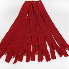 Genuine YKK Nylon/Polyester #3 Finished Zip colour 519 Deep Red