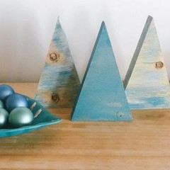Tiny Tree Trio - 'Rustic Christmas' Collection