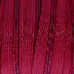 Genuine YKK  Continuous Nylon/Polyester #4.5 Zip colour 519 Deep Red