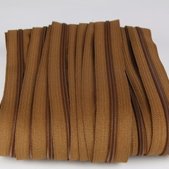 Genuine YKK  Continuous Nylon/Polyester #4.5 Zip colour 858 Brown Leaf