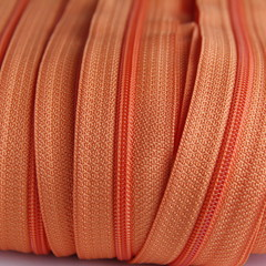 Genuine YKK  Continuous Nylon/Polyester #4.5 Zip colour 523 Carrot Orange