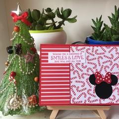 Christmas Handmade Card - disney