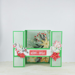 Merry and Bright, 3D Card, Christmas Card