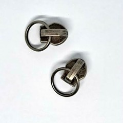 Genuine YKK  #4.5 Zip Metal Slider Antique Silver