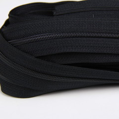 Genuine YKK  Continuous Nylon/Polyester #4.5 Zip colour 580 Black