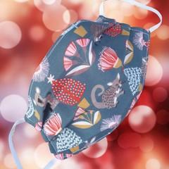 Triple Layer Face Mask - 100% cotton fabric - AUSSIE BUSH CHRISTMAS
