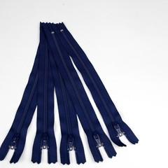 Genuine YKK Nylon/Polyester #3 Finished Zip colour 919 Navy Blue
