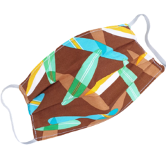 REVERSIBLE Triple Layer Face Mask - 100% cotton fabric - Surfboard Toss