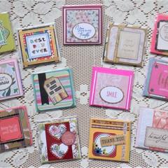 Mini Notecard Packs - Sets of 6