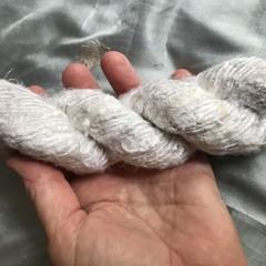 Soft off white Indian banana fibre yarn