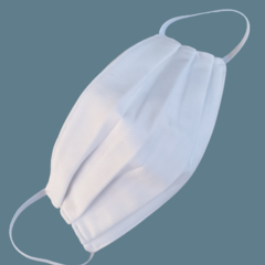 REVERSIBLE Triple Layer Face Mask - 100% cotton fabric - WHITE BOTH SIDES