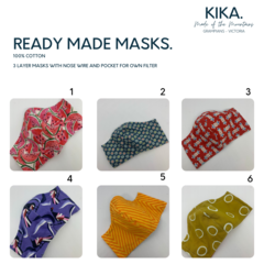 LADIES/TEEN 3 layer Face mask  - Ready Made