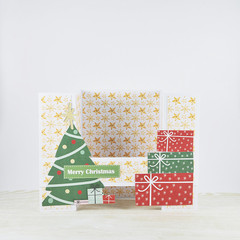 Christmas Tree and Presents, 3D Card, Christmas Card