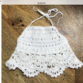 Crochet Girls Halter Crop Top, Boho, Beach Wear, Cotton.Christmas gift