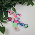 Funfair U-Turn Stack - confetti Glitter Resin - MEGA Dangle earrings