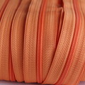 Genuine YKK  Continuous Nylon/Polyester #4.5 Zip colour 523 Carrot Orange