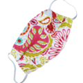 REVERSIBLE Triple Layer Face Mask - 100% cotton fabric - Pink Red Paisley