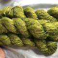 Soft olive green Indian banana fibre yarn