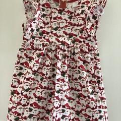 Little Santas cotton dress, size 4