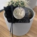 """King George VI coronation medal 1937 Queensland  Necklace, 17"""" waxed cord"""