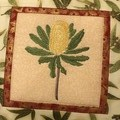 Australiana cushion cover - BANKSIA YELLOW