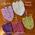 Macrame feather keychain