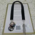Bookmark Navy Velvet with retro rings and Chain Tassel perfect Teachers Gift