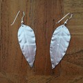 Recycled Silver local 'gum leaf' Earrings