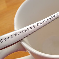 Custom Good Morning Spoon, Work Colleague, Friend, Secret Santa, GIft