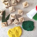Timber Playdough Stamp Set Aussie Animals