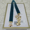 Bookmark Luxury Velvet - Teal with Gold Leaf Tassel perfect Teachers Gift