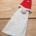 Christmas gnome tea towel holder