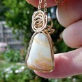 Australian Andamooka Crystal Opal 14k gold fill wire wrapped