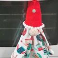 Christmas gnome tea towel holder