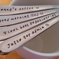 4 x Custom Spoons Work Colleague, Secret Santa, Work mate, work wives,secretary